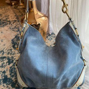 Coach Suede and Snake Skin Hobo Bag Luxury Line